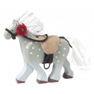 Budkins Grey Horse With Saddle