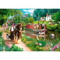 1000 Piece DeLuxe Puzzle - Tow Path