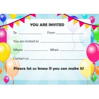 Balloons Party Invitations