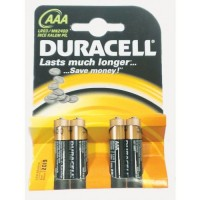 Duracell Plus Power Batteries AAA Card of 4