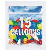 Fantasia 15 Balloons Assorted Colours & Sizes Hang Pack