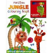 Jungle Wipe-Clean Colouring Book/Crayon Set