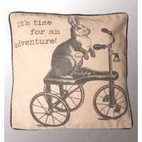 Its time for an Adventure Hare Cushion Cover