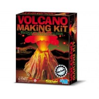 4M Kidz Labs Volcano Making Kit - Make a 9.5cm tall solid volcano