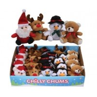 Christmas Chilly Chums Mini Soft Toy - Santa