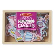 20 wooden princess magnets