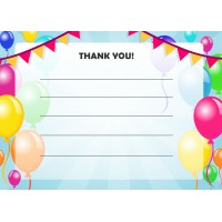 Balloons Thank You Cards