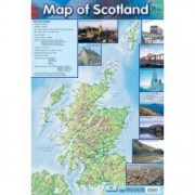 Map Of Scotland Wall Chart