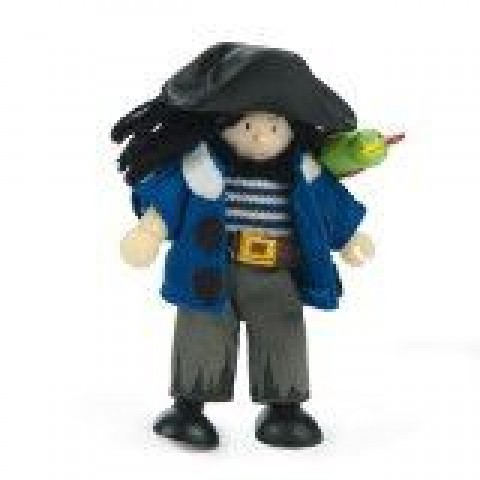 Budkins Jolly Pirate with Parrot