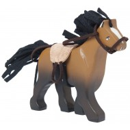 Budkins Brown Horse With Saddle