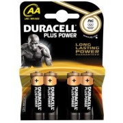 Duracell Plus Power Batteries AA Card of 4