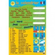 French Calendar & Numbers Wall Chart
