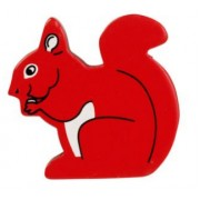 Lanka Kade Wooden Painted Animal - Squirrel