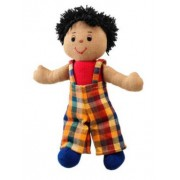 Lanka Kade Small Rag Doll - Boy with Brown Skin and Black Hair