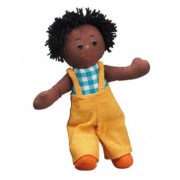 Lanka Kade Small Rag Doll - Boy with Dark Brown Skin and Black Hair