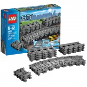 Lego City Trains Flexible and Straight Tracks 7499
