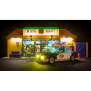 Light My Bricks Kwik E Mart with police car