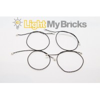 Light My Bricks Connecting Cables - 15cm (4 Pack)