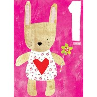 Papersalad Girl Age 1 Birthday Card