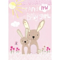 Papersalad Baby Girl Card