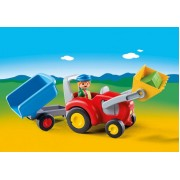 Playmobil 1,2,3 Tractor with Trailer 6964
