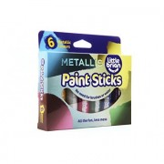 Little Brian Paint Sticks Metallic Colours - 6 Pack